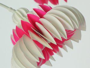 paper flower pink