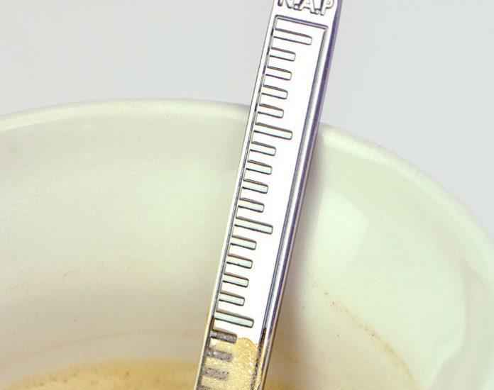 Coffee spoon with NAP measurement for Rijkswaterstaat