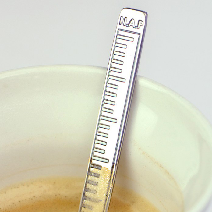 Coffee spoon with NAP measurement for Rijkswaterstaat