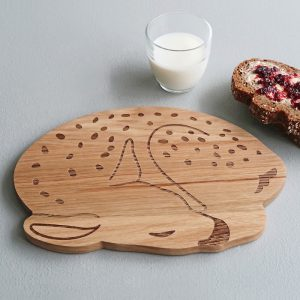 wooden plate deer