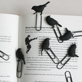 birds on a wire paperclips