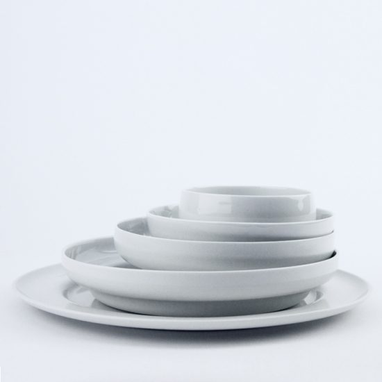 white rabbits tableware set stack