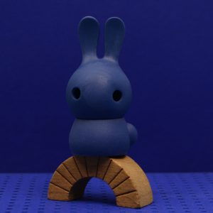 cuniculus small with body, cobalt blue