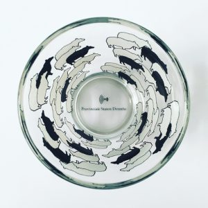 Glass with sheep print for Province Drenthe, The Netherlands