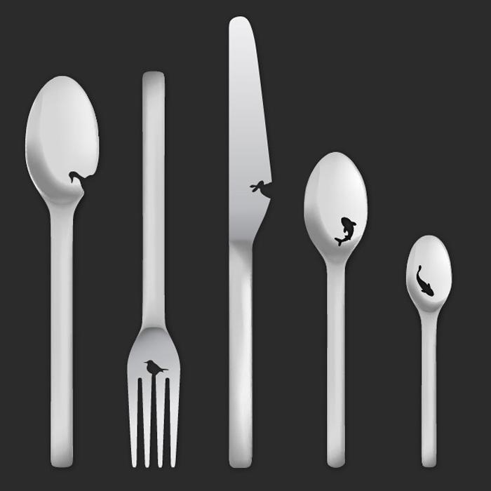 Landscape cutlery sketch