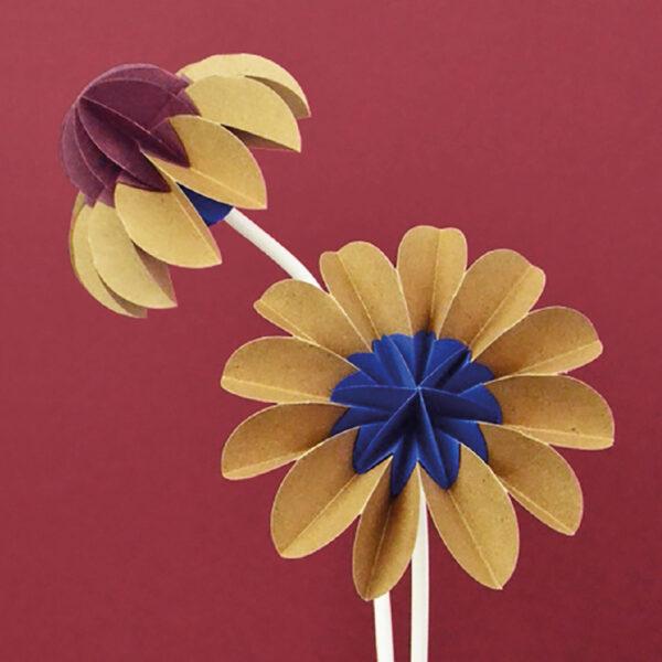 paper flowers autumn