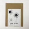 paper flowers winter diy package