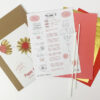 Paper Flowers diy kit summer colors